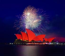 悉尼歌剧院的烟火