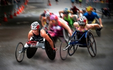womem wheelchair race 2014 greece international bronze