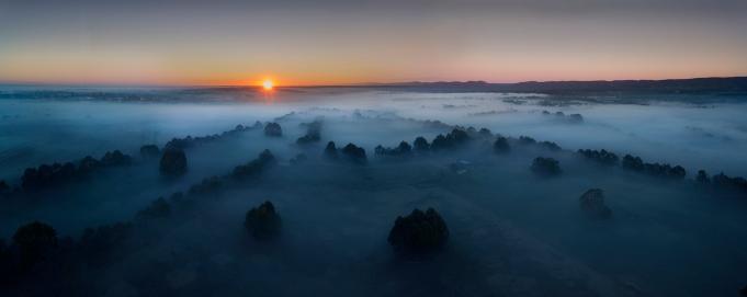 p-45 Wang Bo_Foggy Sunrise